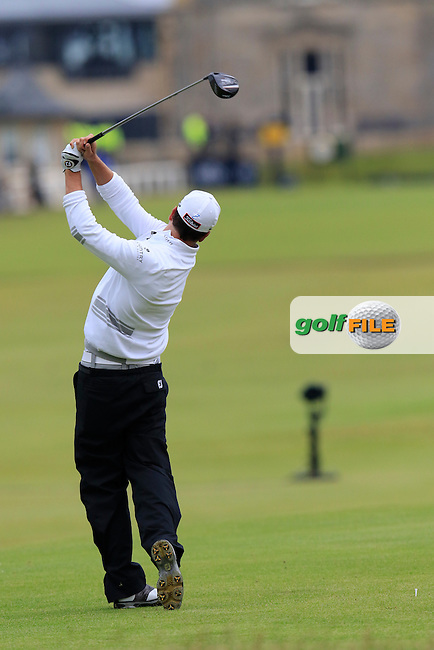 Zach JOHNSON (USA) tees off the 18th tee during Monday's Final Round of the 144th Open Championship, St Andrews Old Course, St Andrews, Fife, Scotland. 20/07/2015.<br /> Picture Eoin Clarke, www.golffile.ie