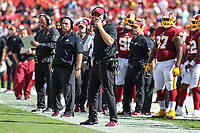 Landover, MD - September 16, 2018: Washington Redskins head coach Jay Gruden during the  game between Indianapolis Colts and Washington Redskins at FedEx Field in Landover, MD.   (Photo by Elliott Brown/Media Images International)