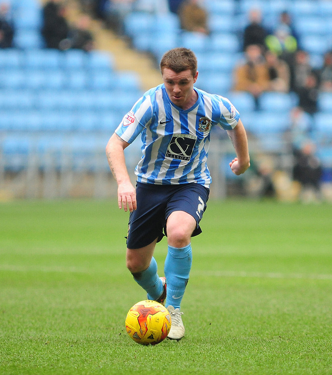 Coventry City's John Fleck<br /> <br /> Photographer Andrew Vaughan/CameraSport<br /> <br /> Football - The Football League Sky Bet League One - Coventry City v Fleetwood Town - Saturday 27th February 2016 - Ricoh Stadium - Coventry   <br /> <br /> &copy; CameraSport - 43 Linden Ave. Countesthorpe. Leicester. England. LE8 5PG - Tel: +44 (0) 116 277 4147 - admin@camerasport.com - www.camerasport.com