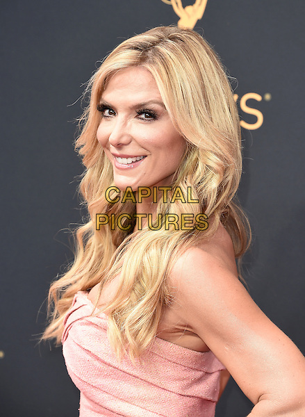 LOS ANGELES, CA - SEPTEMBER 18: Debbie Matenopoulos arrives at the 68th Emmy Awards at the Microsoft Theater on Sunday, September 18, 2016, in Los Angeles, California. <br /> CAP/MPI99<br /> &copy;MPI99/Capital Pictures