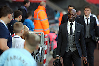 Swansea assistant coach Claude Makelele arrives prior to the game during the Premier League match between Swansea City and Watford at The Liberty Stadium, Swansea, Wales, UK. Saturday 23 September 2017