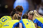 11.05.2019, Scharrena, Stuttgart<br />Volleyball, Bundesliga Frauen, Play-offs Finale, 5. Spiel, Allianz MTV Stuttgart vs. SSC Palmberg Schwerin<br /><br />Mckenzie Adams (#13 Schwerin), Beta Dumancic (#11 Schwerin), Kimberly Drewniok (#8 Schwerin), Denise Hanke (#10 Schwerin), Jennifer Geerties (#6 Schwerin)<br /><br />  Foto © nordphoto / Kurth