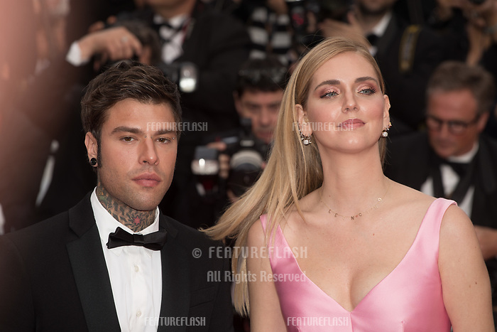 CANNES, FRANCE - MAY 13: Federico Leonardo Lucia and Chiara Ferragni attend the screening of 'Sink Or Swim (Le Grand Bain)' during the 71st annual Cannes Film Festival at Palais des Festivals on May 13, 2018 in Cannes, France.<br /> Picture: Kristina Afanasyeva/Featureflash/SilverHub 0208 004 5359 sales@silverhubmedia.com