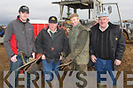 PLOUGH: Getting the tractor for the Abbneydorney Ploughing competition on Sunday in Abbeydorney, l-r: Nicholas King(jnr) Crommane), Michael Dineen and Thpomas Healy (Ballyheigue) and Nicholas King (snr, Crommane)............. ....