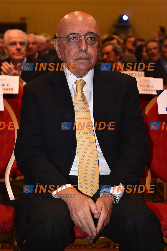 Adriano Galliani Amministratore Delegato Milan .Roma 14/01/2013 Marriott Hotel.Assemblea Elettiva FIGC Federazione Italiana Gioco Calcio.Foto Andrea Staccioli Insidefoto