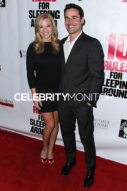 "HOLLYWOOD, LOS ANGELES, CA, USA - APRIL 01: Nikki Leigh, Jesse Bradford at the Los Angeles Premiere Of Screen Media Films' ""10 Rules For Sleeping Around"" held at the Egyptian Theatre on April 1, 2014 in Hollywood, Los Angeles, California, United States. (Photo by Xavier Collin/Celebrity Monitor)"
