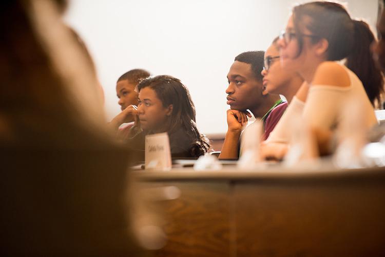 Junior Executive Business Program participants listen to Ohio University President Duane Nellis. Photo by Ben Siegel