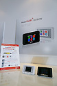 Samples of the new Y!mobile's Pocket Wifi 603HW on display during the launch event for Y!mobile's spring promotions on January 18, 2017, Tokyo, Japan. Y!mobile announced its new mobile devices (MediaPad T2 Pro, Pocket Wifi 603HW, Android One S1 and S2) and discount promotions for young users from January 20. (Photo by Rodrigo Reyes Marin/AFLO)