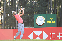 Abrahan Ancer (MEX) on the 17th tee during the final round of the WGC HSBC Champions, Sheshan Golf Club, Shanghai, China. 03/11/2019.<br /> Picture Fran Caffrey / Golffile.ie<br /> <br /> All photo usage must carry mandatory copyright credit (© Golffile | Fran Caffrey)