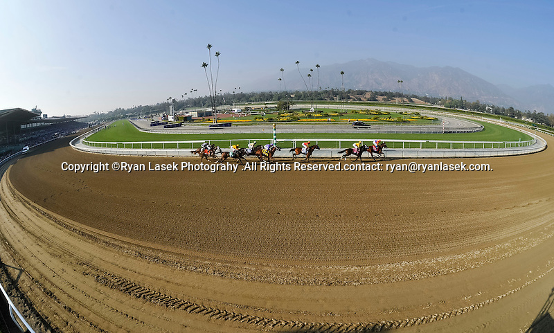 Nov. 02, 2012 - Arcadia, California, U.S - Horses race during The Grey Goose Breeders' Cup Juvenile Fillies (Grade I) at Santa Anita Park in Arcadia, CA. (Credit Image: © Ryan Lasek/Eclipse/ZUMAPRESS.com)