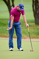 Sergio Garcia (ESP) reacts to his putt on 7 during round 3 of the World Golf Championships, Dell Technologies Match Play, Austin Country Club, Austin, Texas, USA. 3/24/2017.<br /> Picture: Golffile | Ken Murray<br /> <br /> <br /> All photo usage must carry mandatory copyright credit (&copy; Golffile | Ken Murray)