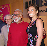 Sheldon Harnick, Joe Masteroff and Laura Benanti attends the CD release signing for the Broadway revival of 'She Loves Me' at Barnes and Noble 86th street on August 3, 2016 in New York City.