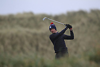 Michael Troy (Dungarvan) on the 13th tee during Round 2 of the Ulster Boys Championship at Portrush Golf Club, Portrush, Co. Antrim on the Valley course on Wednesday 31st Oct 2018.<br /> Picture:  Thos Caffrey / www.golffile.ie<br /> <br /> All photo usage must carry mandatory copyright credit (&copy; Golffile | Thos Caffrey)