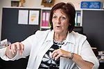 Mouscron - Belgium - 15 June 2020 -- Open borders between Belgium and France after some COVID-19 restrictions are lifted. — Brigitte Aubert the major of Mouscron. — PHOTO: Juha ROININEN / EUP-IMAGES