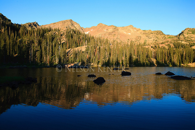 Sunrise on Island Lake in the Mission Mountains on the west side of the Seeley - Swan valley