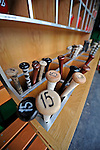 8 June 2008: The Washington Nationals' baseball bats are ready for use prior to a game against the San Francisco Giants at Nationals Park in Washington, DC. The Nationals dropped the afternoon matchup to the Giants 6-3 in their third consecutive loss of the 4-game series...Mandatory Photo Credit: Ed Wolfstein Photo