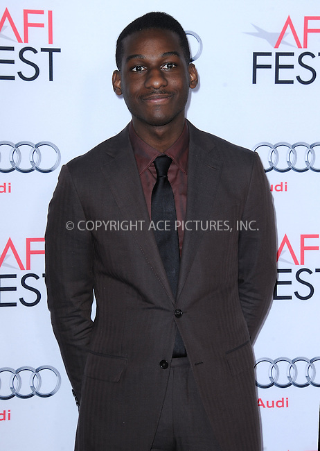 WWW.ACEPIXS.COM<br /> <br /> November 10 2015, LA<br /> <br /> Leon Bridges attends the AFI FEST 2015 Gala Premiere of 'Concussion' at the TCL Chinese Theatre on November 10, 2015 in Hollywood, California.<br /> <br /> By Line: Peter West/ACE Pictures<br /> <br /> <br /> ACE Pictures, Inc.<br /> tel: 646 769 0430<br /> Email: info@acepixs.com<br /> www.acepixs.comC