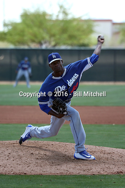 Francis Cespedes - Los Angeles Dodgers 2016 extended spring training (Bill Mitchell)