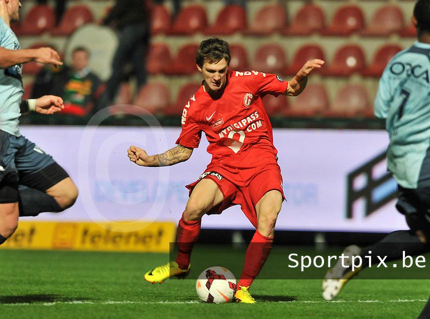 KV Kortrijk - KV Oostende : Benito Raman met de doelpoging<br /> foto VDB / Bart Vandenbroucke