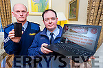 Sargent Dermot O'Connell and Garda Jason O'Mahony who are warning people to be wary of cyber crime in their Phones, Tablets and Laptops