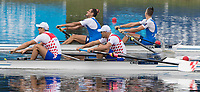 Sarasota. Florida USA.  Gold Medalist ITA M2- Bow. Matteo LODO and  Giuseppe VICINO and CRO M2-. Bow. Martin SINKOVIC, and Valent<br /> SINKOVIC, &ldquo;fight for the finishing line.  Final A. 2017 World Rowing Championships, Nathan Benderson Park<br /> <br /> Saturday  30.09.17   <br /> <br /> [Mandatory Credit. Peter SPURRIER/Intersport Images].<br /> <br /> NIKON CORPORATION -  NIKON D500  lens  VR 500mm f/4G IF-ED mm. 320 ISO 1/1250/sec. f 8