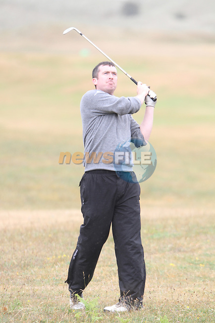 Mark Mullen (Wexford) on the 3rd Hole, Day 2 at the East of Ireland Amateur Open Championship 2011 in Co.Louth Golf Club....(Photo credit should read Jenny Matthews www.newsfile.ie)....This Picture has been sent you under the conditions enclosed by:.Newsfile Ltd..The Studio,.Millmount Abbey,.Drogheda,.Co Meath..Ireland..Tel: +353(0)41-9871240.Fax: +353(0)41-9871260.GSM: +353(0)86-2500958.email: pictures@newsfile.ie.www.newsfile.ie.