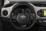 Car pictures of steering wheel view of a 2017 Toyota Yaris Comfort 5 Door Hatchback