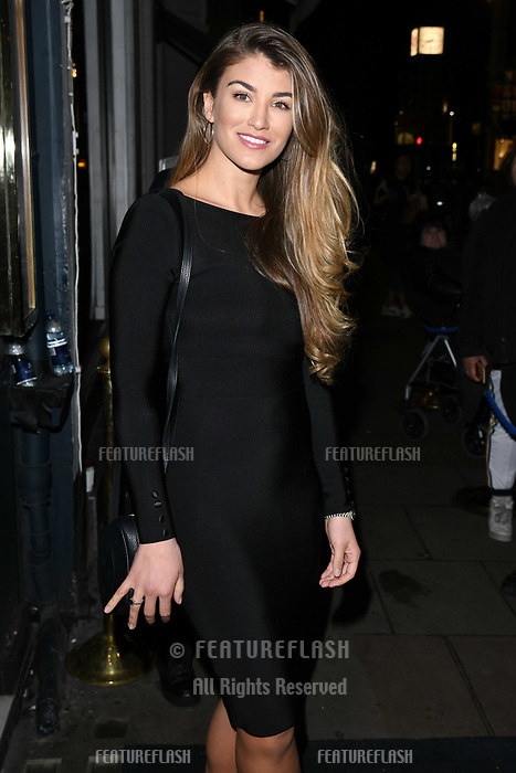 Amy Willerton arriving for James Ingham's Jog on to Cancer 2018 at Cafe de Paris, London, UK. <br /> 04 April  2018<br /> Picture: Steve Vas/Featureflash/SilverHub 0208 004 5359 sales@silverhubmedia.com
