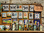 Souvenir magnets, San Gimignano, Siena-Tuscano, Italy<br /> <br /> Cats and dogs