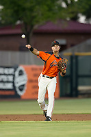 AZL Giants shortstop Francisco Medina (37) on defense against the AZL Athletics on August 5, 2017 at Scottsdale Stadium in Scottsdale, Arizona. AZL Athletics defeated the AZL Giants 2-1. (Zachary Lucy/Four Seam Images)