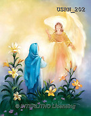 Randy, EASTER RELIGIOUS, OSTERN RELIGIÖS, PASCUA RELIGIOSA, paintings+++++Watercolor-Annunciation,USRW202,#ER#