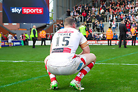 Picture by Alex Whitehead/SWpix.com - 30/09/2017 - Rugby League - Betfred Super League Million Pound Game - Leigh Centurions v Catalans Dragons - Leigh Sports Village, Leigh , England - Leigh's Danny Tickle looks dejected after the loss.