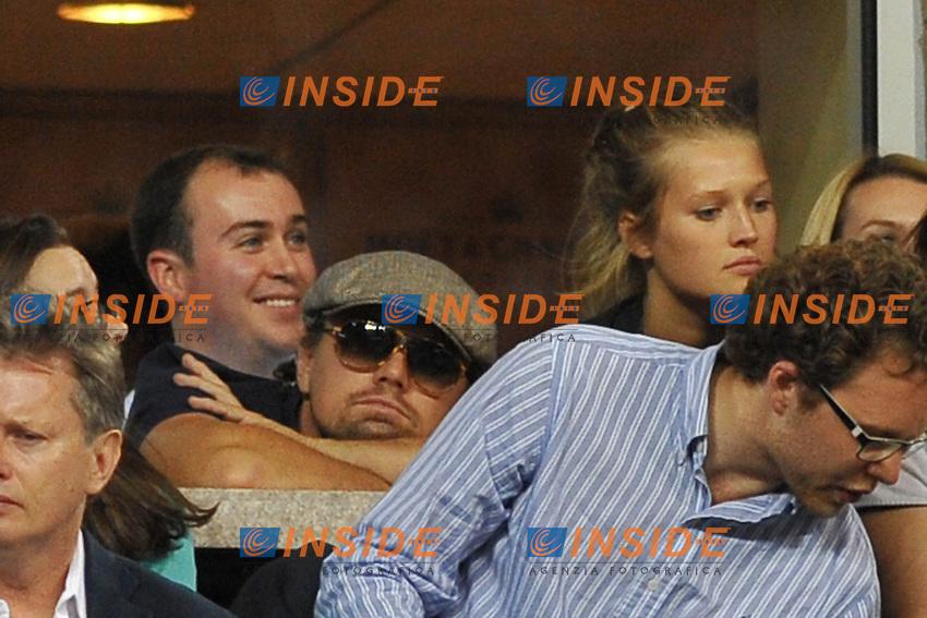 Leonardo Di Caprio con la fidanzata<br /> New York Flushing Meadows 03-09-2013 Tennis Torneo US Open Grande Slam.<br /> Photo Antoine Couvercelle / Panoramic / Insidefoto<br /> ITALY ONLY