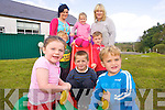 CHILDS PLAY: Getting ready to enjoy the new playground at Raheen Montessori playgroup are front l-r: Alicia Heapes, Diarmuid O'Neill and Shane Daly. Middle l-r: Cathal Mackey and Darren Lowe. Back l-r: Norissa O'Donoghue, Leah Daly and Joanne Slattery.