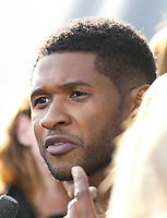 "HOLLYWOOD, LOS ANGELES, CA, USA - APRIL 03: Usher at the NBC's ""The Voice"" Red Carpet Event held at The Sayers Club on April 3, 2014 in Hollywood, Los Angeles, California, United States. (Photo by Xavier Collin/Celebrity Monitor)"