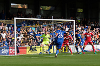 Rod McDonald of AFC Wimbledon with a shot on goal during AFC Wimbledon vs Scunthorpe United, Sky Bet EFL League 1 Football at the Cherry Red Records Stadium on 15th September 2018