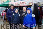 Enjoying the Tralee Chamber Alliance annual Food Festival in the Square on Saturday were Lisa Flaherty, eimear flaherty, Joey O'Connell and Sebastian O'Connell