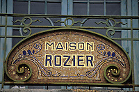 Europe/France/Auvergne/63/Puy-de-Dôme/La Bourboule: Pâtisserie Rosier - Détail de la façade en mosaïque art déco 1920