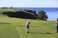 Dermot Desmond (IRL) tees off the 6th tee at Pebble Beach course during Friday's Round 2 of the 2018 AT&amp;T Pebble Beach Pro-Am, held over 3 courses Pebble Beach, Spyglass Hill and Monterey, California, USA. 9th February 2018.<br /> Picture: Eoin Clarke | Golffile<br /> <br /> <br /> All photos usage must carry mandatory copyright credit (&copy; Golffile | Eoin Clarke)