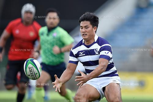 Hikaru Tamura (), <br /> NOVEMBER 15, 2015 - Rugby : Kanto Intercollegiate Rugby Games <br /> match between Teikyo University 49-32 Meiji University <br /> at Chichibunomiya Rugby Stadium, Tokyo, Japan. <br /> (Photo by AFLO SPORT)
