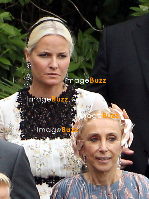 Arrival of the guests of the marriage of Pierre and B&eacute;atrice<br /> <br /> Princesse Mette-Marit de Norvege;Franca Sozzani