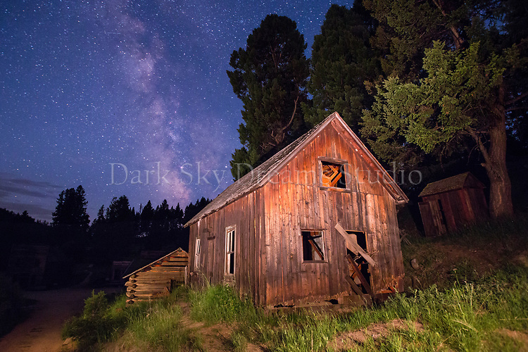 Hanifen House at Night - Garnet Ghost Town, MT