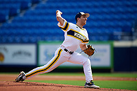 Michigan Wolverines starting pitcher Ryan Nutof (8) delivers a pitch during the first game of a doubleheader against the Canisius College Golden Griffins on June 20, 2016 at Tradition Field in St. Lucie, Florida.  Michigan defeated Canisius 6-2.  (Mike Janes/Four Seam Images)