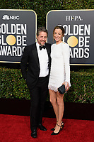 Nominee Hugh Grant and Elisabet Eberstein attends the 76th Annual Golden Globe Awards at the Beverly Hilton in Beverly Hills, CA on Sunday, January 6, 2019.<br /> *Editorial Use Only*<br /> CAP/PLF/HFPA<br /> Image supplied by Capital Pictures