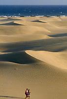 Spanien, Kanarische Inseln, Gran Canaria, Maspalomas, Duenen aus afrikanischem Wuestensand | Spain, Canary Island, Gran Canaria, Maspalomas, dunes