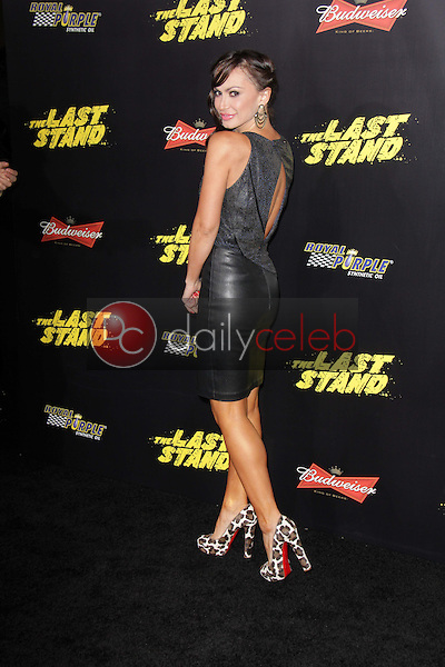Karina Smirnoff<br /> at &quot;The Last Stand&quot; World Premiere, Chinese Theater, Hollywood, CA 01-14-13<br /> David Edwards/DailyCeleb.com 818-249-4998