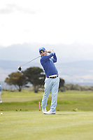 Daniel Holland (Castle) on the 3rd tee during Round 3 of The Irish Amateur Open Championship in The Royal Dublin Golf Club on Saturday 10th May 2014.<br /> Picture:  Thos Caffrey / www.golffile.ie