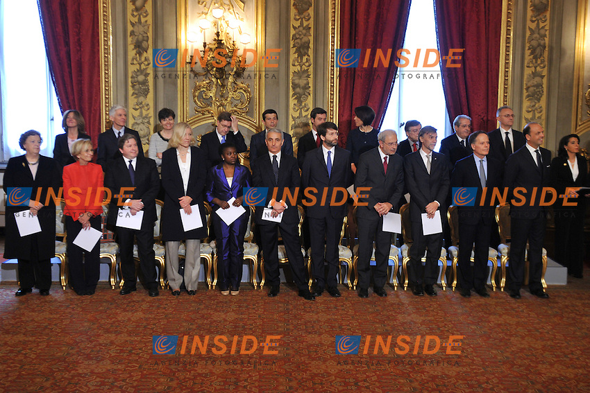Foto di gruppo dei Ministri - Photo family.Roma 28/04/2013 Quirinale. Giuramento del nuovo Governo..swearing in ceremony of the new government at the Quirinale Palace.Photo Samantha Zucchi Insidefoto
