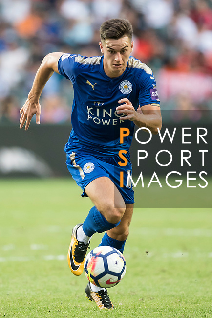 Leicester City FC forward Tom Lawrence in action during the Premier League Asia Trophy match between Leicester City FC and West Bromwich Albion at Hong Kong Stadium on 19 July 2017, in Hong Kong, China. Photo by Weixiang Lim / Power Sport Images