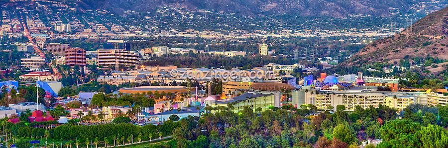 Warner Bros., Universal City; Burbank; Glendale; CA; San Fernando Valley, Verdugo Hills; Panorama